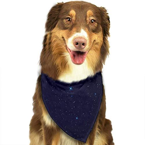 Rghkjlp Night-Sky-Stars Pet Dog Bandanas Triangle Bib Scarf Accessories for Dogs, Cats, Pets - Night Sky Kostüm