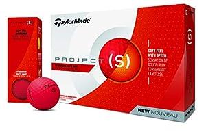 TaylorMade Projd(s) Golfbälle Dutzend, Unisex, M7166201, rot, matt, One Dozen