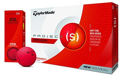 TaylorMade Projd(s) Golfbälle Dutzend, Unisex, M7166201, rot, matt, One Dozen -