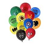 Superheld Luftballons 24 Pack 12 Zoll Latex Luftballons für Kinder Birthday Party Supplies, ideal für Mädchen und Jungen Comic Thema Party und Dekorationen, Avengers Party Dekorationen