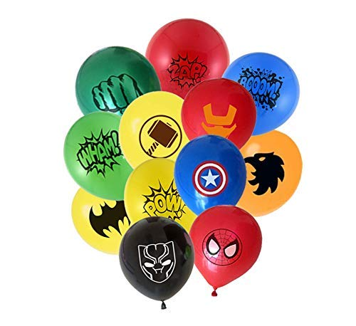 s 24 Pack 12 Zoll Latex Luftballons für Kinder Birthday Party Supplies, ideal für Mädchen und Jungen Comic Thema Party und Dekorationen, Avengers Party Dekorationen ()