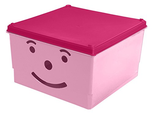 branq Smiley juguete caja juguete caja caja de almacenamiento Caja con tapa