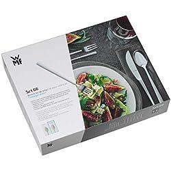 WMF Flame Besteckset, 78-teilig, mit Espressolöffel, für 12 Personen, eingesetzte Messerklinge, Cromargan protect Edelstahl poliert, extrem kratzbeständig, spülmaschinengeeignet