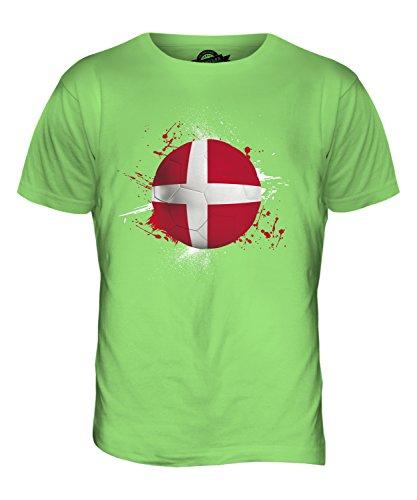 CandyMix Danimarca Calcio T-Shirt da Uomo Maglietta Verde Lime