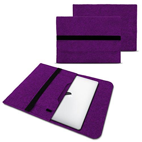 NAUC Laptop Tasche Sleeve Hülle Schutztasche Filz Cover für Tablets und Notebooks Farbauswahl kompatibel mit Samsung Apple ASUS Medion Lenovo, Farben:Lila, Größe:12.5-13.3 Zoll