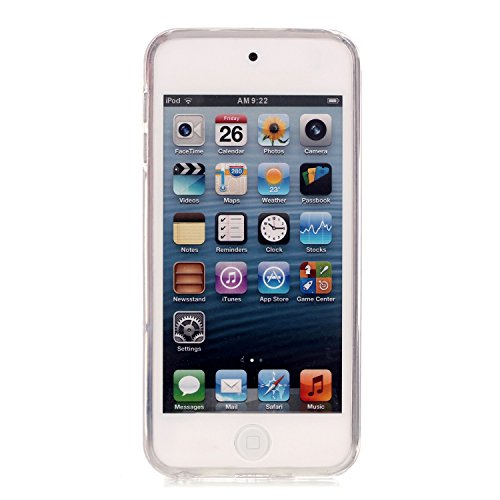 iPod Touch 6th Coque, Aeeque® Fleurs de Dentelle Blanc Dessin Transparent Crystal Silicone Doux TPU Protection Contre les Chutes Case Cover Housse Etui pour iPod Touch 5th/6th Motif #11