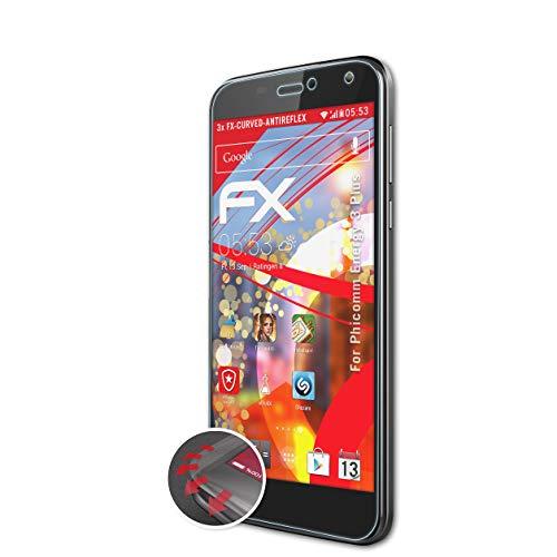 atFolix Schutzfolie passend für Phicomm Energy 3 Plus Folie, entspiegelnde & Flexible FX Bildschirmschutzfolie (3X)