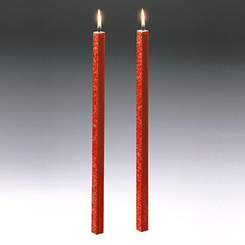 Amabiente Kerze CLASSIC koralle 40cm - 2er Set -