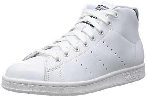 adidas Originals Stan Smith Mid, Chaussures Montantes Homme, 38 EU ftwr white/ftwr white/collegiate navy