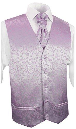 Paul Malone Hochzeitsmode Herren Hochzeitsweste Set 5tlg flieder lila violett Gr.58
