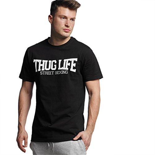 Thug Life Uomo Maglieria / T-shirt Street Boxing Nero