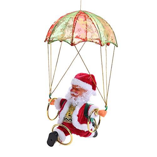 Kesoto babbo natale che balla canta con paracadute movimento di fianchi e talento canoro decorazione natalizia per casa