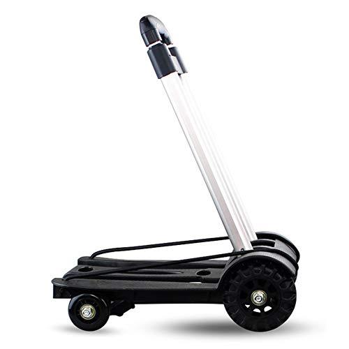 Allrad Klappgepäckanhänger, Tank Wheel Push Warenkorb kann 75 kg tragen, geeignet für Reisen und Einkaufen.