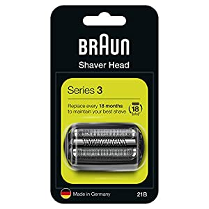 Braun Series 3 21B Electric Shaver Head Replacement Cassette - Black