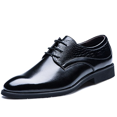 Scarpe Da Uomo Primavera E Autunno Moda Scarpe Singole Pizzo Pelle Ultra-fibra Scarpe Casual Black