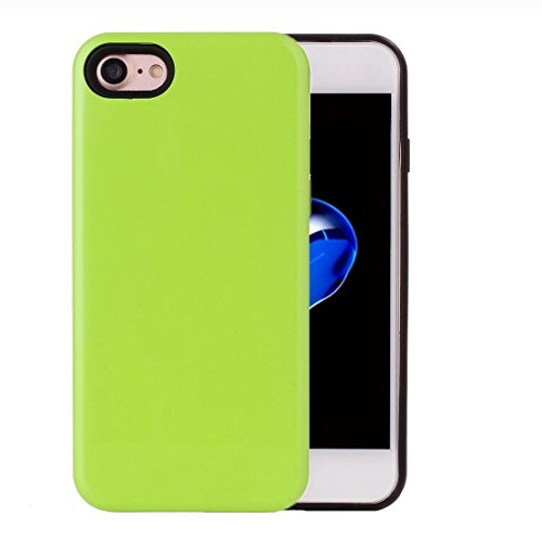 2 in 1 Solid Color PU + TPU Kombination zurück Fall Deckung für iPhone 7 by diebelleu ( Color : Green ) Green