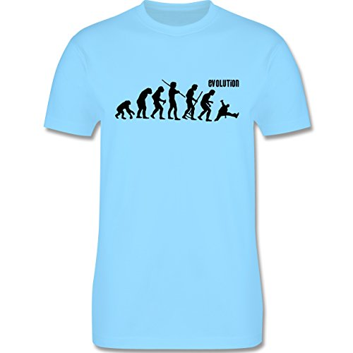 Evolution - Breakdance Evolution - Herren Premium T-Shirt Hellblau