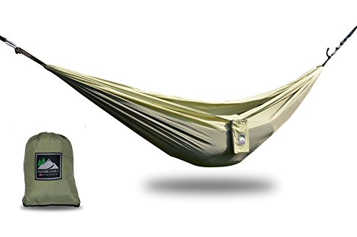 Oliver James Camping Hängematte - Ultraleichte strapazierfähige Fallschirmseide Nylon Campinghängematte