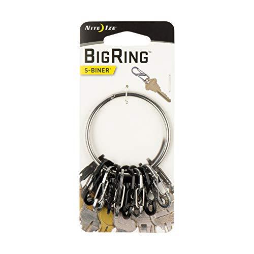 Nite Ize Bigring Stahl 8 S-Biner 0.5, Schwarz/Silber, NI-BRG-M1-R3 - 4-zoll-ring-binder