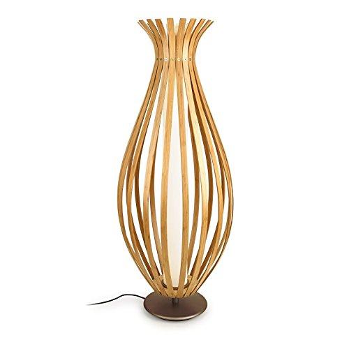 Leds-c4 bamboo - Lámpara pie salon bamboo 330 led 22w oxido