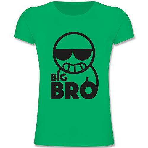 Geschwisterliebe Kind - Big Bro - 152 (12-13 Jahre) - Grün - F131K - Mädchen Kinder T-Shirt