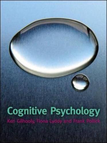 Cognitive Psychology (UK Higher Education Psychology)