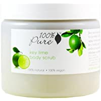 100% Pure: Key Lime Body Scrub,15 oz, Instantly makes Skin Soft, Smooth, Healthy, Glowing and Vibrant by 100% Pure