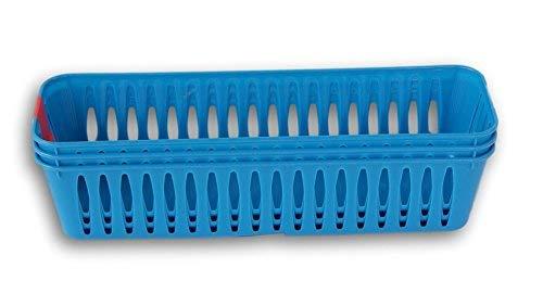 Greenbrier (Slim Kunststoff Ablageschalen Bleistift Körbe in Blau–Set von 3