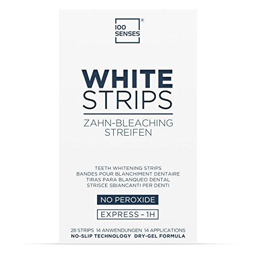 100SENSES White-Strips, 28 White-Stripes zur Zahnaufhellung in 14 Tagen, Bleaching-Stripes für weissere Zähne