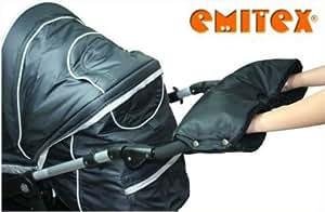 emitex muff schwarz schwarz f r kinderwagen handmuff muff handw rmer handschuh. Black Bedroom Furniture Sets. Home Design Ideas