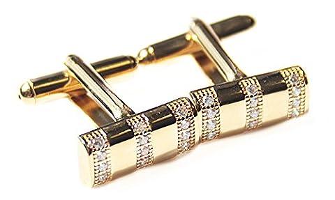 Men's Gold Filled 18k Bar Cufflinks UK Guarantee: 3µ /