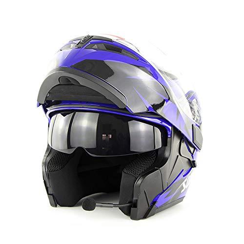 Wansheng Moto Casco Motocicleta Bluetooth Integrado