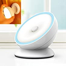 PHOEWON Lámpara de Pared LED Luces con Sensor de Movimiento Rotación de 360° Aplique Interior para Pared Patio Camino de Entrada Escaleras