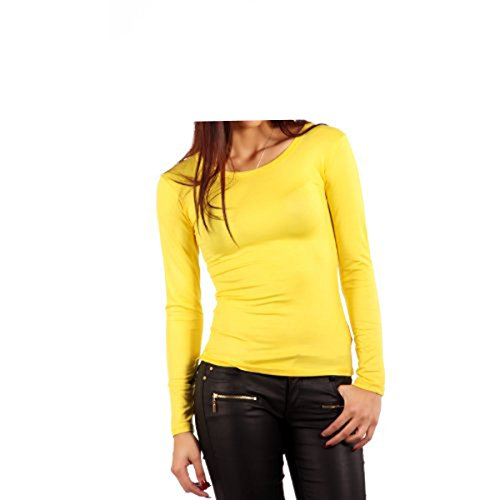 elegance1234 -  Maglia a manica lunga  - Donna jaune (yellow)