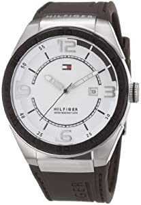 Reloj Tommy Hilfiger 1790825 de cuarzo para hombre con correa de silicona, color marrón de Tommy Hilfiger
