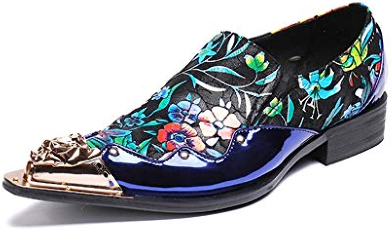 HNM scarpe Uomo Scarpe in Pelle Oxford Cowboy Punta in Metallo Mocassini Scarpe Sera Festa Vestito Blu Inteligente...   Garanzia autentica    Uomini/Donna Scarpa