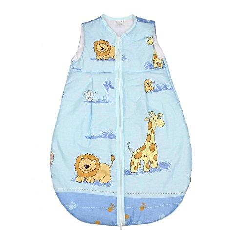 TupTam Baby Schlafsack Wattiert ohne Ärmel ANK001, Farbe: Zoo Blau, Größe: 104-110