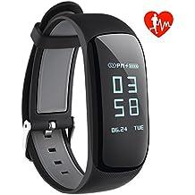 VICTSING Pulsera Actividad Inteligente GPS, Monitor Actividad con Ritmo Cardíaco Impermeable IP67, Pantalla Táctil 0.96in, Reloj de Tomate, Bluetooth 4.0, compatible con IOS y Android