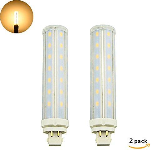 Moderne 4-licht Pendelleuchten (LuxVista 12W GX24Q LED Lampe 4-Stifte Retrofit Maisbirne Warmweiß 3000K 1200 Lumen 2-Stück (Entfernen / umgehen Sie den Ballast))