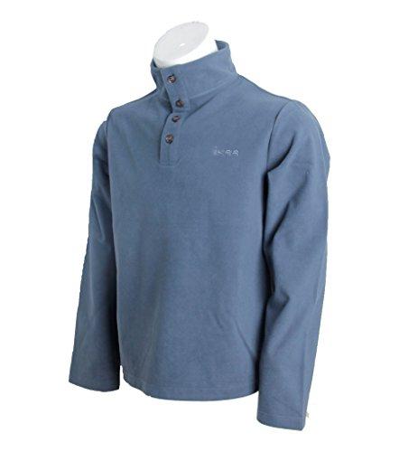 IKRR Herren Fleeceweste Voller Zip Arbeitsjacke Herren Sportliche Jacke Frühling Pullover Fleecejacke Blau