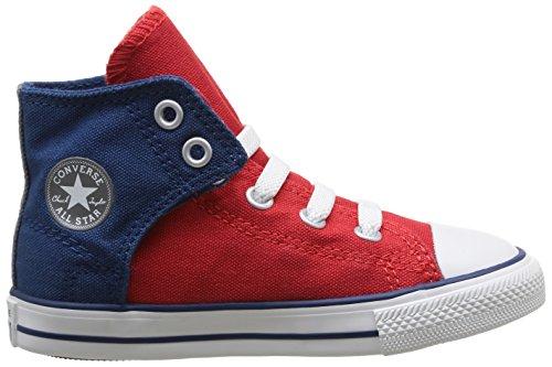 Converse Chuck Taylor Easy Slip Hi, Baskets mode mixte enfant Rouge (Rouge/Marine)