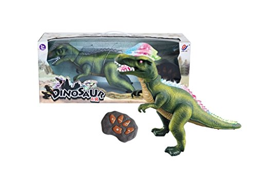 Image of R/C Remote Control Dinosaur, Walks, Roars, Lights Up. Green