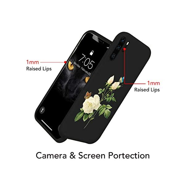 Oihxse Compatible with Huawei P20 Case with Fashion Design, Soft TPU Ultra Thin Black Matte Finish [Anti-Fingerprint] Drop Protection Back Cover Shell Skin for Huawei P20-White Rose Oihxse 🦜【Ultra-Thin & Slim Fit】Ultra-Slim design snugly fit for your Huawei P20 to bring [Sleek Look], [Stylish Charming] and [Great in-hand Feeling] due to the process with matte finish compliment with fashion pattern on the mobile phone case back-black colour. 🦜【Support Wireless Charge】With precision cutouts of the Huawei P20, you can easy access to headphone jack, charger port, key mute, speakers, audio ports and buttons without the interference of [WiFi Reception], [Signal Reception], [Wireless Charging Performance], etc. 🦜【Anti-Fingerprint & Non-Fade Material】Crafted with soft anti-yellowing and non-fade TPU material with red frosted finish to provide you fingerprint resistant, anti-slip, daily scratches, bumps, drops and other daily damages. 4