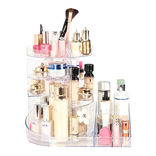 Boîte de Rangement Cosmétique Rotative pour Carrousel de Maquillage, Carrousel, pour Toners, Crèmes, Pinceaux de Maquillage, Rouges À Lèvres Et Plus, Transparent (Couleur : Transparent)