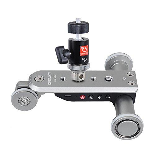 Mini-track (Mini Motorisierte Elektrische Track Slider Dolly Auto Skater Riemenscheibe Rolling 3-Rad Video Fotografie Track Schiene für kingjoy Canon Nikon Sony DSLR Kamera Smartphone)