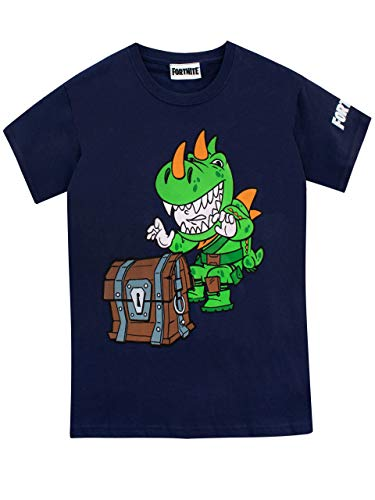 Fortnite Camiseta de Manga Corta para Niños Azul 13410ee7fa7