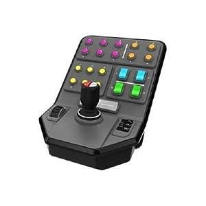 Logitech G Saitek Farm Sim Controller, Farming Simulator mit Steuerpult und Controller, 25 programmierbare Tasten, Tempomat, Schraubengewinde-Justierung, USB-Anschluss, PC/Mac – schwarz