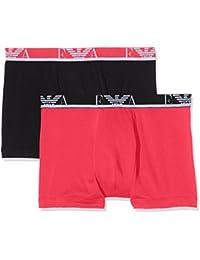 Emporio Armani Underwear 1112687P715, Boxer Homme, Multicolore (CICLAMINO/NERO), Medium