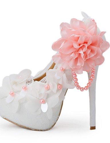 WSS 2016 Chaussures de mariage-Blanc-Mariage / Habillé / Soirée & Evénement-Talons-Talons-Homme 5in & over-us6.5-7 / eu37 / uk4.5-5 / cn37