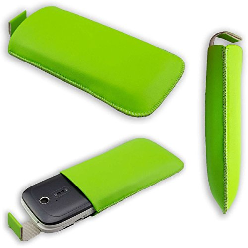 caseroxx Slide-Etui Handy-Tasche für Doro 6030/6031 / 6050/6051 aus Kunstleder, Handy-Hülle in grün